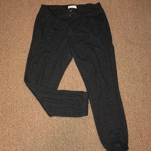 Anthropologie Charcoal Knit Joggers
